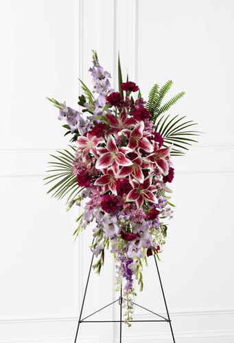 The Tender Touch Standing Spray Funeral Flower Arrangement