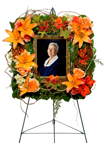 Garden Photo Frame Funeral Wreath Flower Arrangment