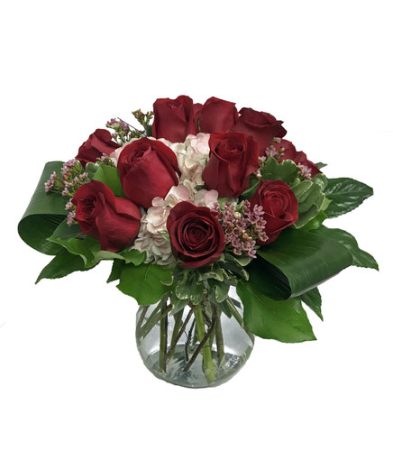 Dozen Rose Posy