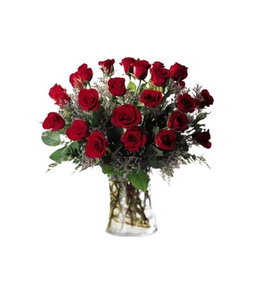 Abundance of Love 2 Dozen Red Roses Flower Arrangement Bouquet
