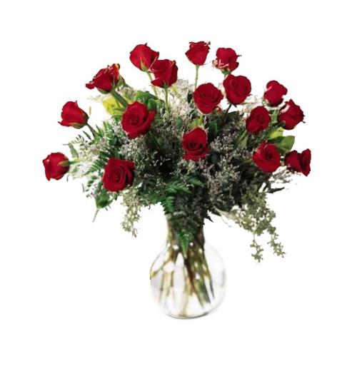 Classic Beauty 18 Rose Flower Arrangement Bouquet