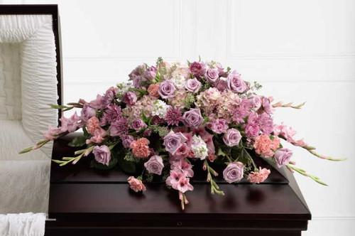 Immorata Casket Spray Sympathy Flower Arrangement With Roses