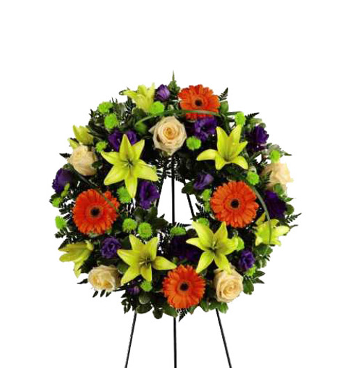 The Radiant Remembrance Funeral Wreath Flower Arrangement