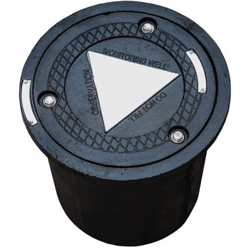 "10"" Cast Iron Lid w/ Steel Skirt Manhole"
