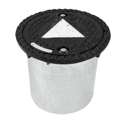 "12"" Cast Iron Lid w/ Steel Skirt Manhole"