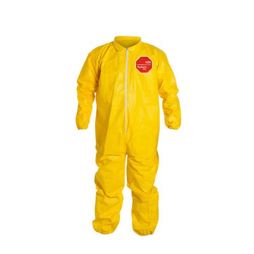 Yellow Tychem® 2000 Polyethylene Coated Tyvek® Bib Pants/Overalls, Qty 12