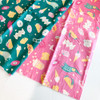 Food Snacks Pink American Trip fabrics design