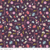 Eggplant Beauty and the Beast Objects fabrics design