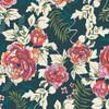 Everblooming Camellias Aglow floral fabrics design