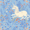 Blue unicorn quilt cotton fabrics design