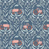 Tractors teal cotton Poppy Prairie fabrics design
