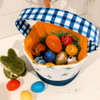 Blue Orange Green Easter basket