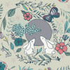 Woodland animals floral fabric, Art Gallery Moon Stories Ash cotton, QTR YD