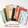 Adventure Awaits Camping 8 piece fabric bundle PBS Fabrics quilting cotton