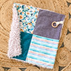 Patchwork Lovey Cuddle Blanket Project Kit - llama cuddle lovey teether