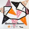 Halloween Fabric Banner Project Kit - Art Gallery Spooky 'n Sweeter Banner kit
