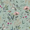 Hummingbird floral fabric, Art Gallery cotton Magic Fauna Mirage, QTR YD