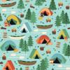 Camping Tent Canoe fabrics design
