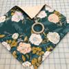 Dark green floral fabrics design