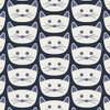Blue Cat Nap District cotton fabrics design
