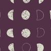 Dark Purple Moon fabric, Art Gallery Fabrics Lunation Dark cotton, QTR YD