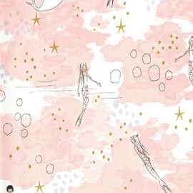 Mermaid Pink Magic cotton fabrics design