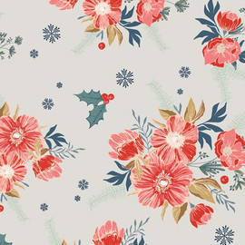 Christmas Holiday floral cotton Fabrics design