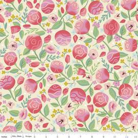 Pink Roses floral fabrics design