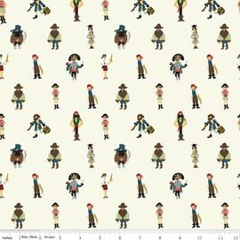 Pirates Cream cotton fabrics design