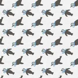 Scuba Penguin kids cotton fabrics design