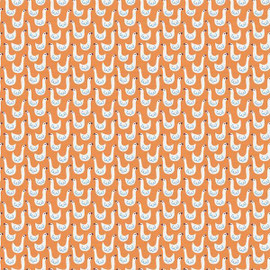 Orange duck goose kids cotton Fabrics design