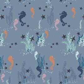 Seahorse ocean aqua fabrics design