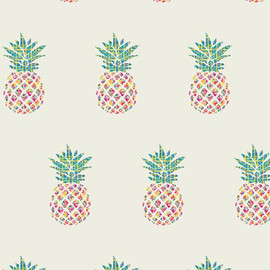 Pineapple quilt cotton fabrics design