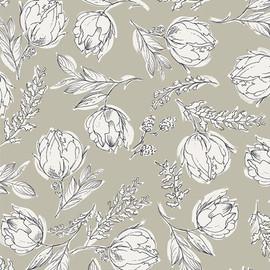 Unruly Terrace Shade cotton Flower fabrics design