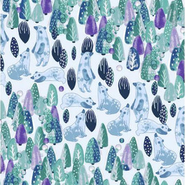 Save the Polar Bears fabrics design