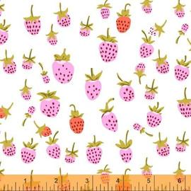 Lilac Strawberry fabrics design