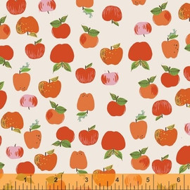 Red Apple Anniversary Windham Collection fabrics design