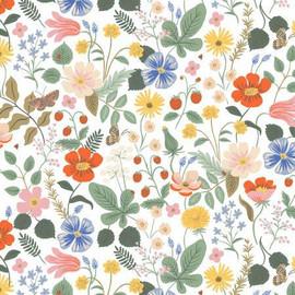 Strawberry Fields Ivory cotton Fabrics design
