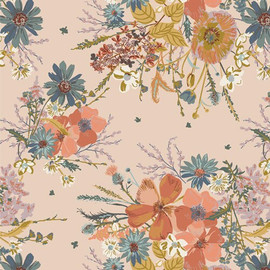 Painted Prairie Cornucopia cotton fabrics design