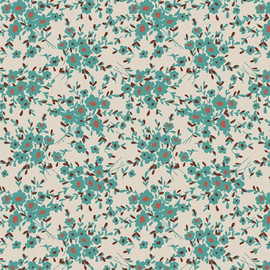 Calico Days Aqua cotton fabrics design