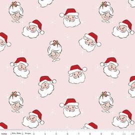 Pink Santa Claus Christmas Fabrics design