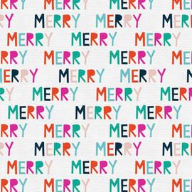Colorful Merry Christmas Fabrics design