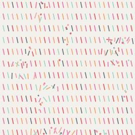 Pastel Sprinkles Glitch Rainbow cotton fabrics design