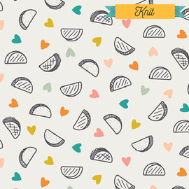 Taco Love KNIT fabrics design