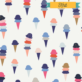 Ice cream KNIT fabrics design