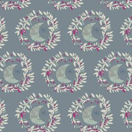 Light Purple moon cotton fabrics design
