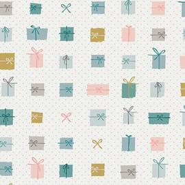 Pastel Christmas Presents Fabrics design