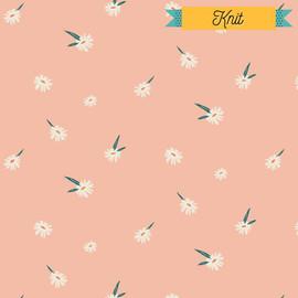 Pink Daisy KNIT fabrics design