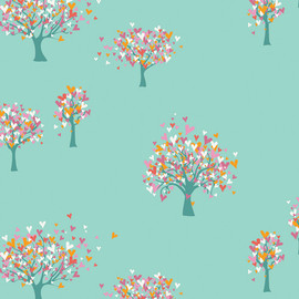 Growing Hearts fabric, Playroom AGF cotton fabric, QTR YD