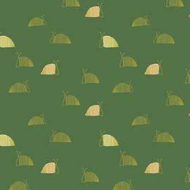 Green Moss's Snail Mail fabrics design